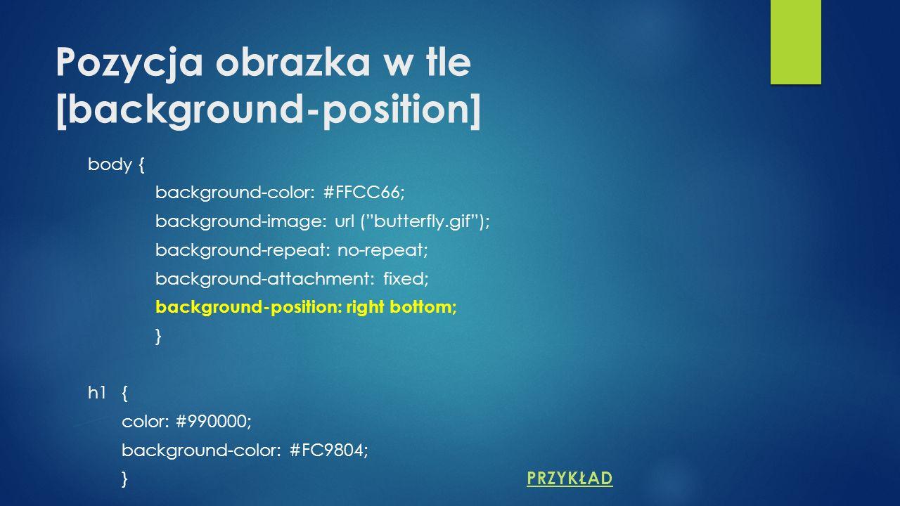 Pozycja obrazka w tle [background-position]